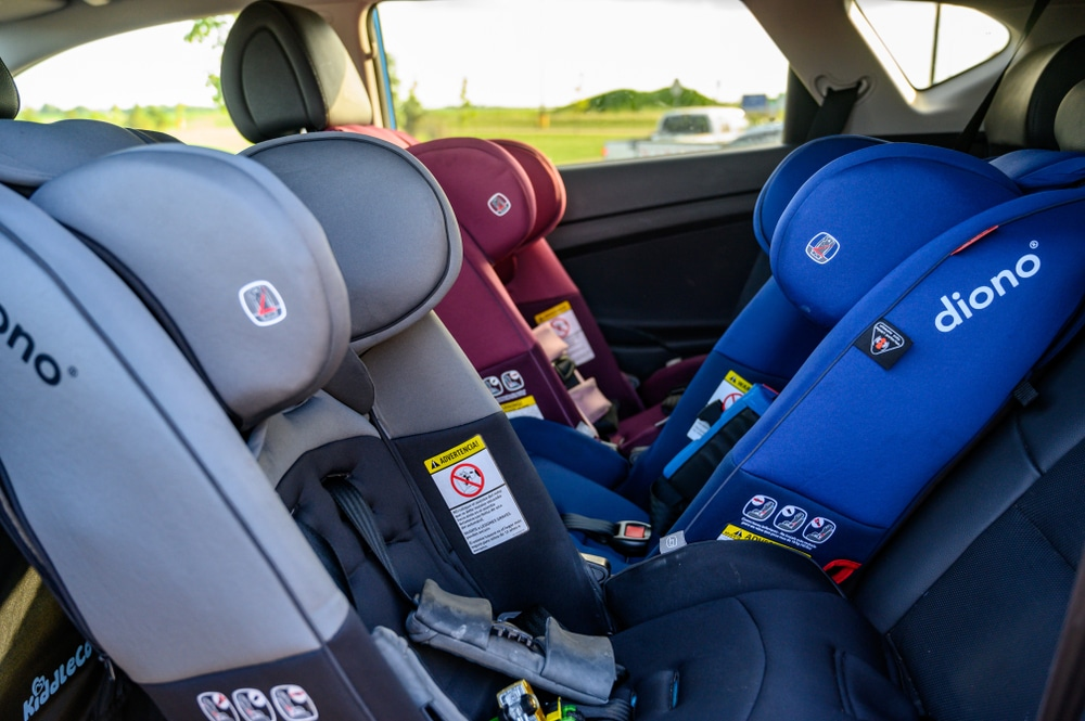 rear-facing and front-facing car seat